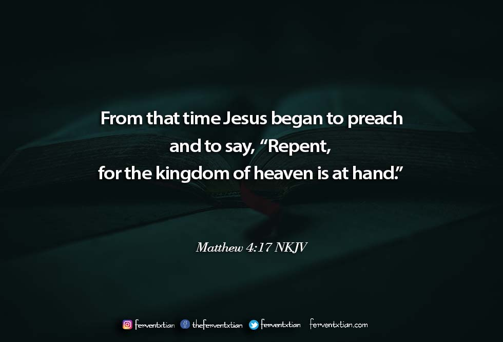 Word of the day: Matthew 4 vs 17 – Preach the Gospel