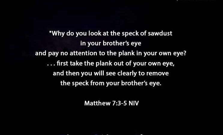 The Light Daily Devotional –  The speck in your Eyes