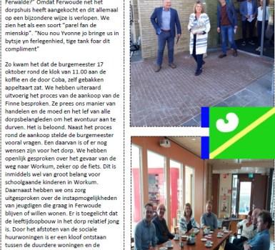 Stukje uit de Klepel… burgemeester op bezoek