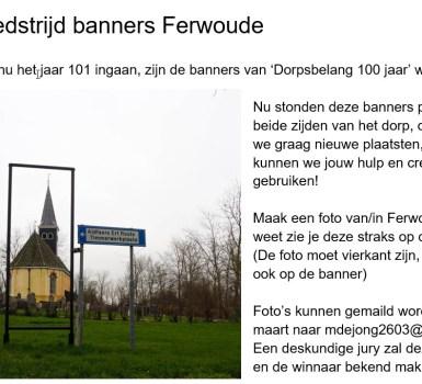 Fotowedstrijd banners Ferwoude