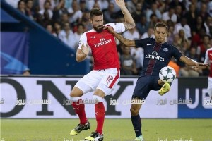 أهداف مباراة آرسنال وباريس سان جيرمان 2/2 ملخص arsenal fc vs paris saint germain