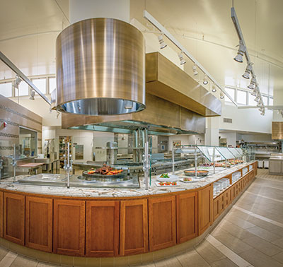 Florence Moore Hall Kitchen and Servery at Stanford