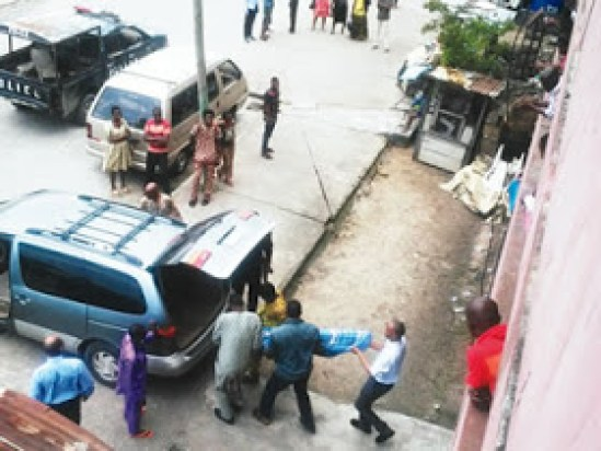Ugochukwu Ekwe Body Being Removed by Police In Festac