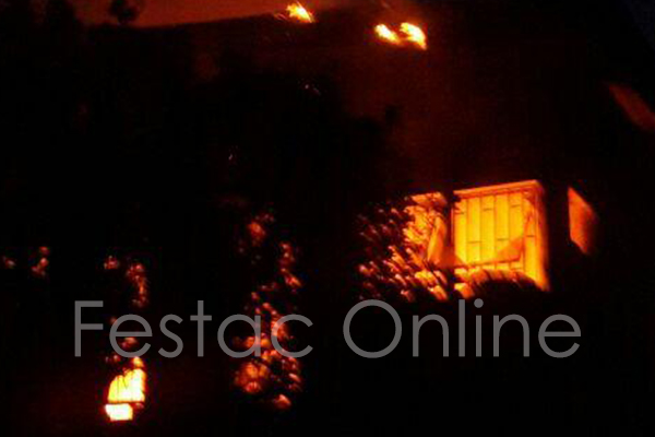 house catches fire at 3rd avenue festac