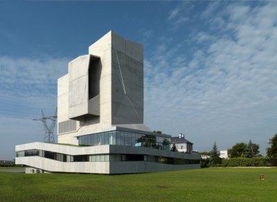 beton architektoniczny wykorzystany przy budowie aerotunelu