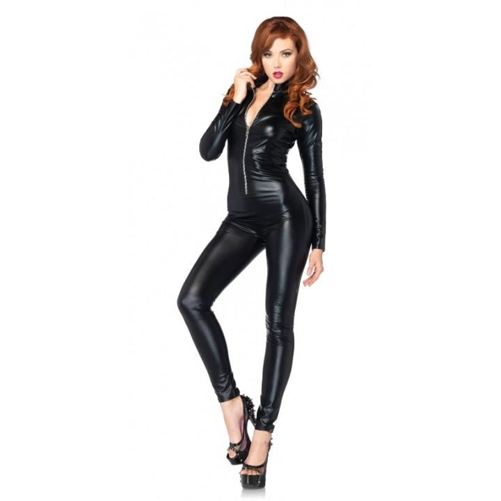 deguisement combinaison latex noir sexy