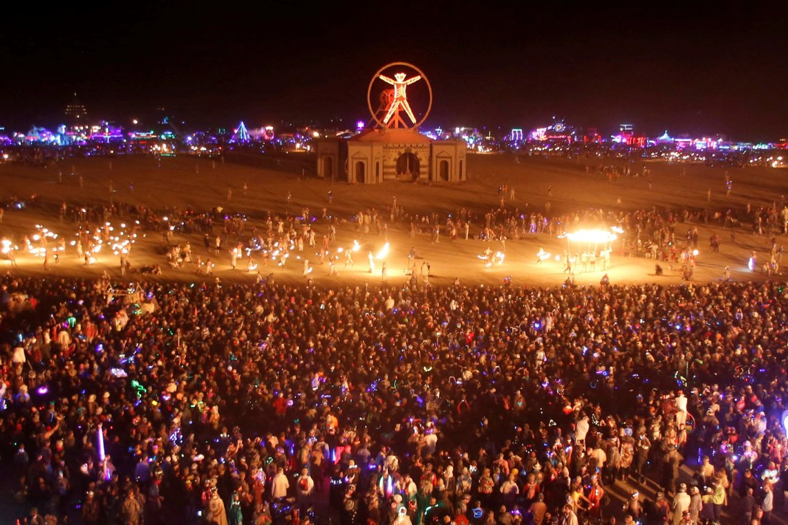 hot august music festival Burning Man