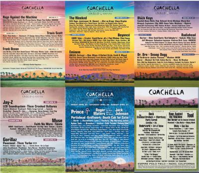 【Coachella】コーチェラ歴代ヘッドライナー&過去ラインナップポスター、各年のトピックも