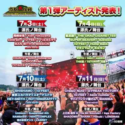 10-FEET主催「京都大作戦2021」第1弾出演者として43組が発表