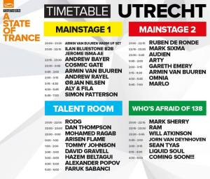 A State Of Trance Festival Utrecht lineup