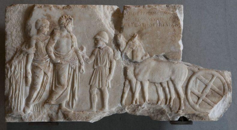 Το ανάγλυφο του αμαξά. 4ος αι. π.Χ