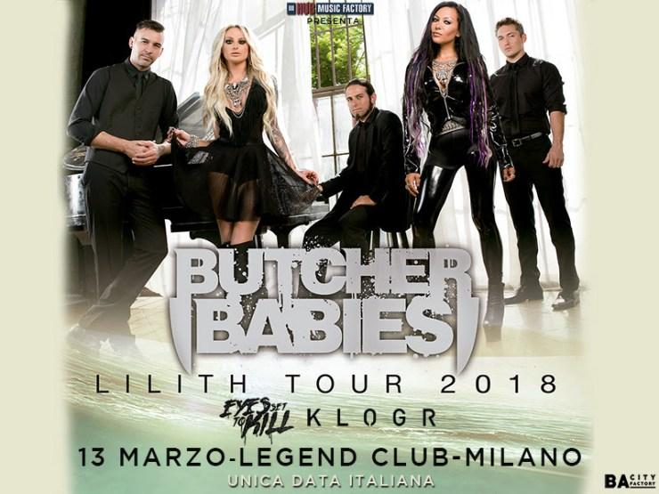 Butcher babies 13 marzo milano