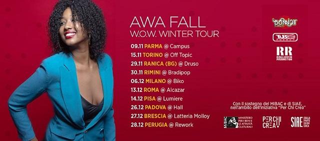Wow (che) Winter Tour quello di Awa Fall