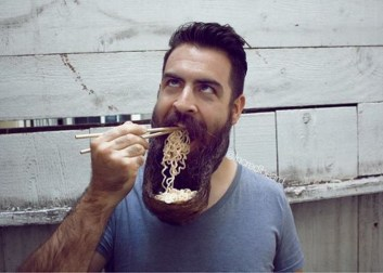 beards to hide your food in