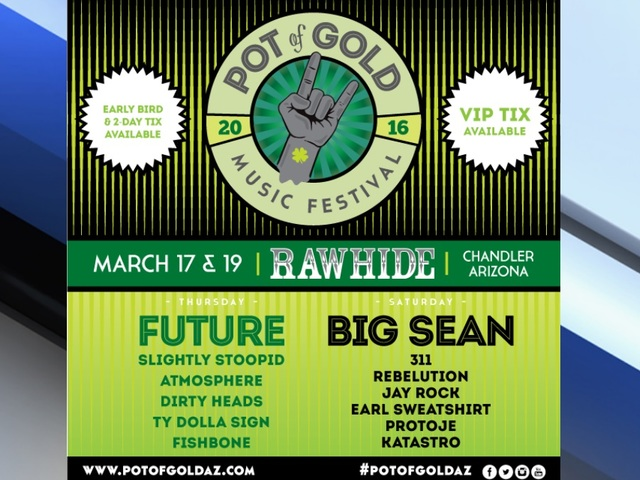 Pot of Gold Music Festival Announces Amazing Lineup for St. Patty's Day & Weekend