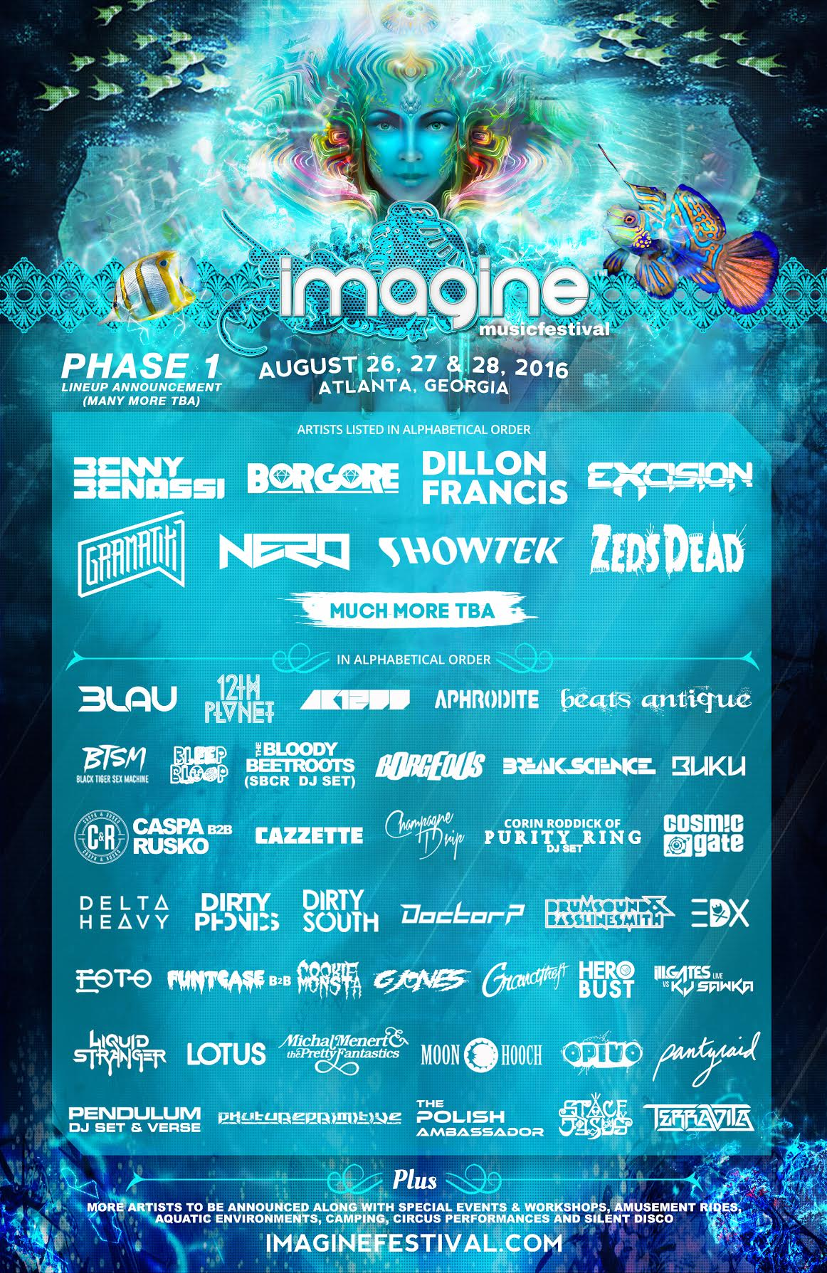 Imagine Music Festival Claims The South With The Release of its 2016 Lineup