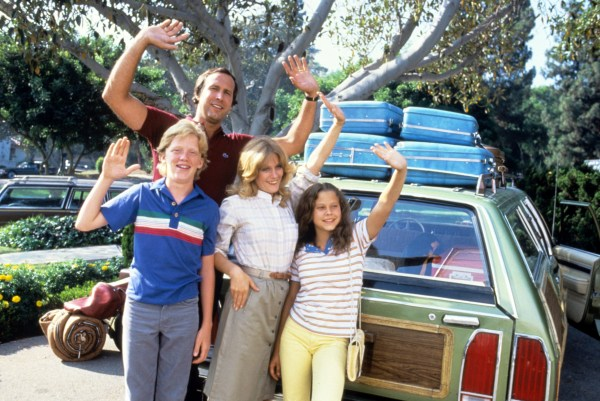 NATIONAL LAMPOONS VACATION, Anthony Michael Hall, Chevy Chase, Beverly DAngelo, Dana Barron, 1983