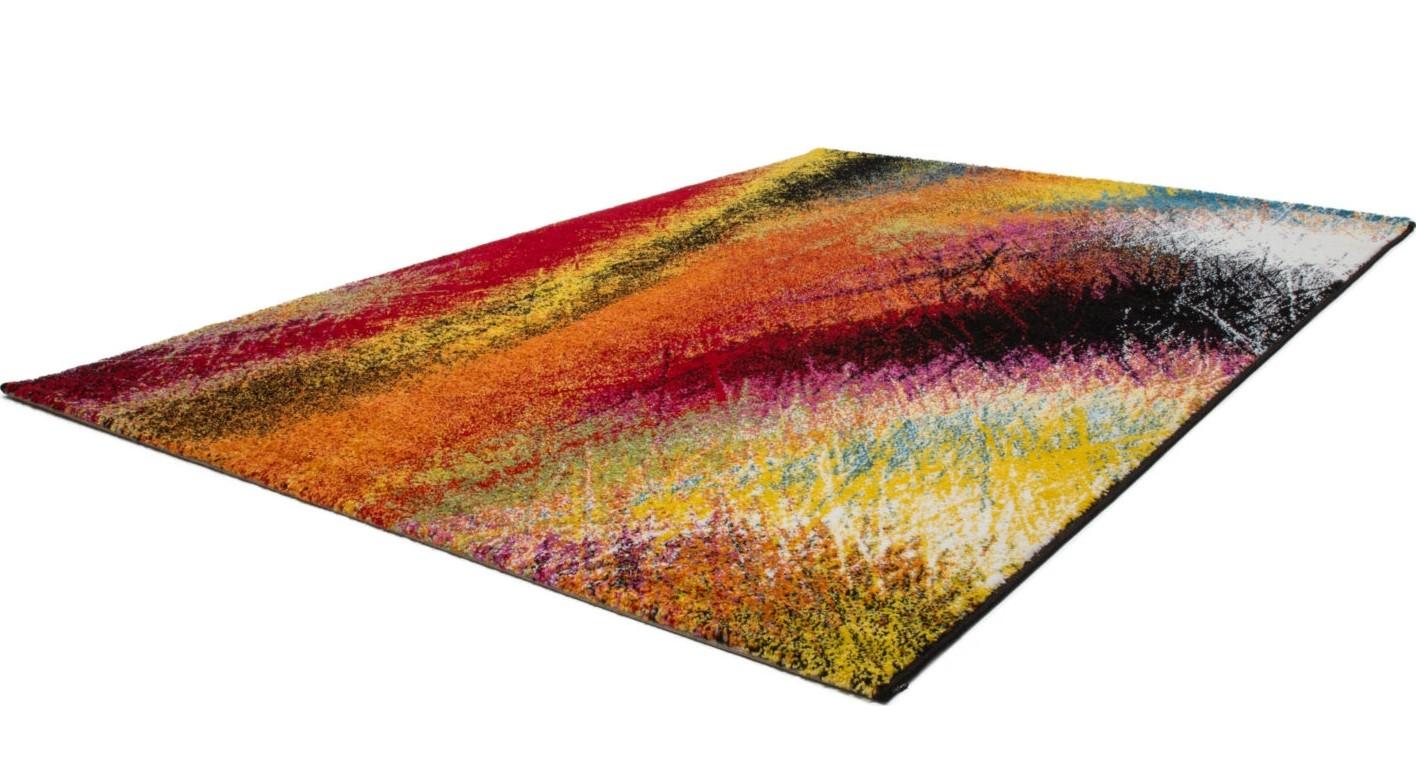 tapis design multicolore pour salle a manger bruno
