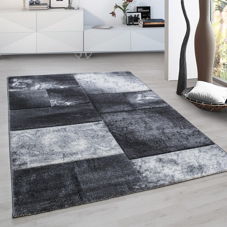 tapis frisee effet 3d design moderne salon gris harlequin