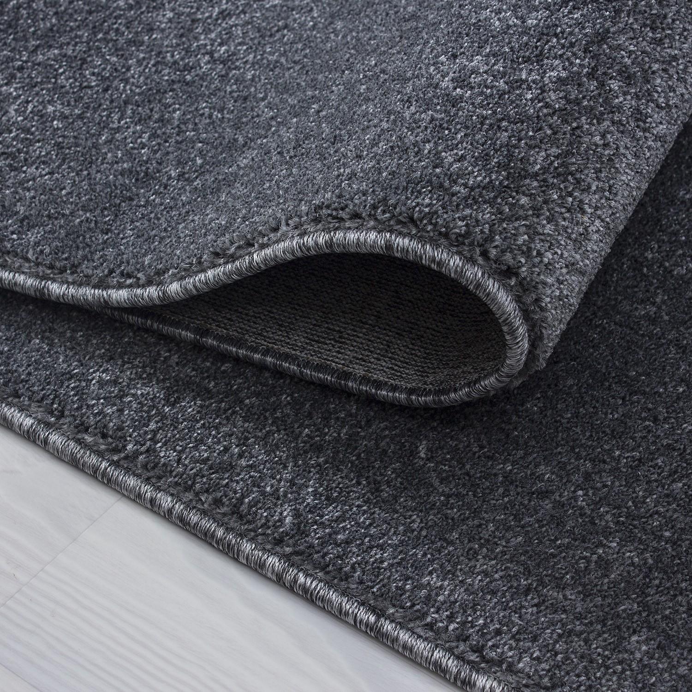 tapis a courtes meches microfibre doux grey velluto