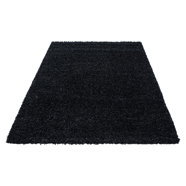 tapis shaggy moderne tapis design uni en polypropylene vasco