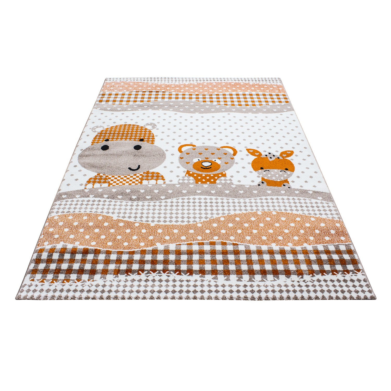 tapis pour chambre enfants kids fille beige