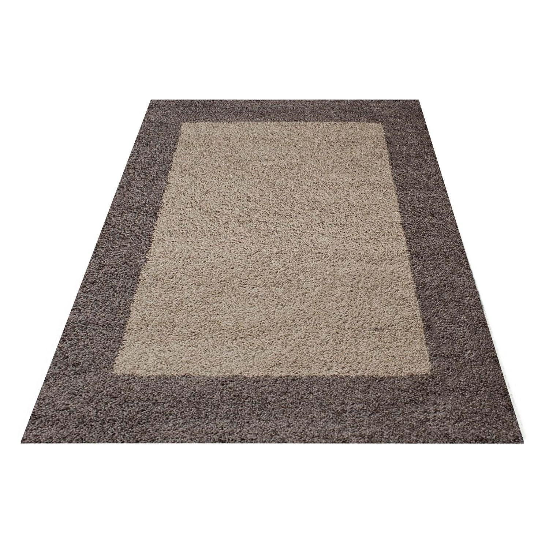 tapis shaggy taupe moderne tapis design en polypropylene vasco