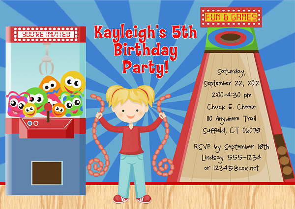 Arcade Game Birthday Party Invitations Arcade Game