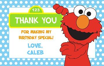 Elmo Birthday Party Gift Tags