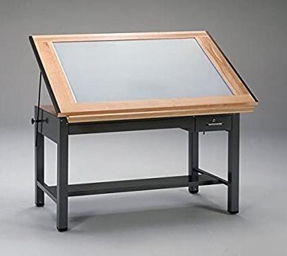 meja gambar transparan