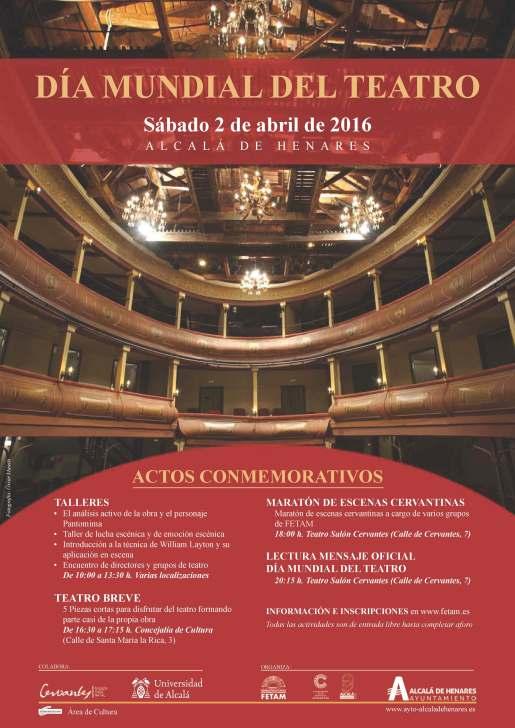 Cartel Día Mundial Teatro