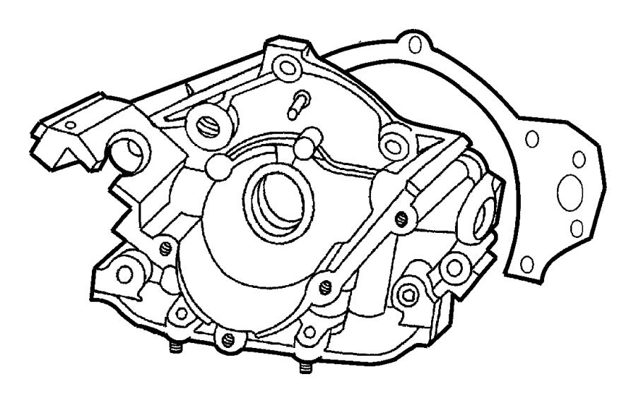 2002 Dodge Intrepid Engine Oil Pump. Engine Oil Pump