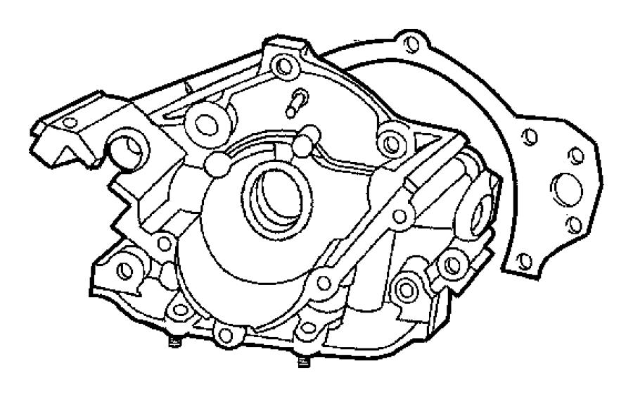2002 Dodge Intrepid Engine Oil Pump. Engine Oil Pump Flow