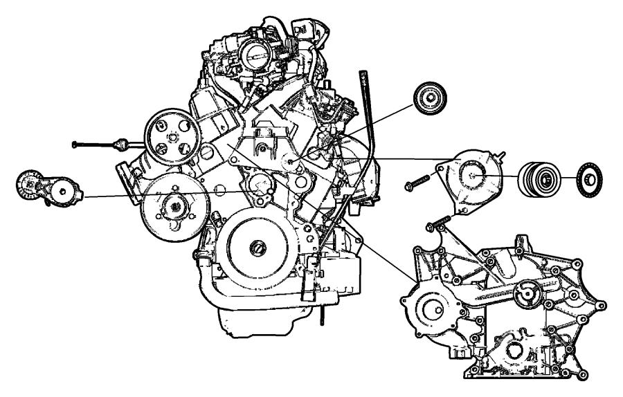 2006 Dodge Grand Caravan Cover. Timing. Engine. 3.3 liter
