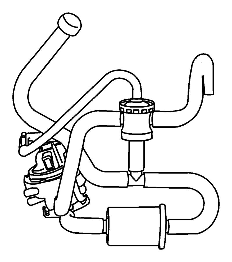 2004 Dodge Ram 1500 Air filter. Evaporative Emissions
