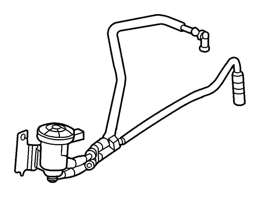 2006 Dodge Caravan Vacuum Hose. 2.4 LITER. EMISSION