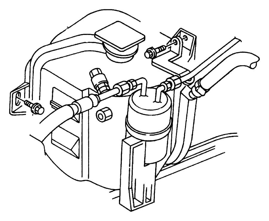 Dodge Stratus Engine Coolant Reservoir Cap. Reservoir tank