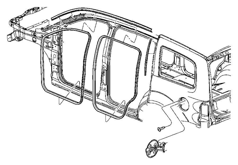 2009 Dodge Durango W'strip. Seal. Chrysler; Dodge. Body