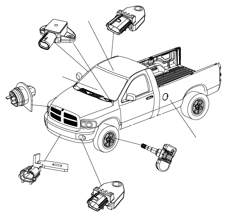 Dodge Ram Ambient Air Temperature Sensor