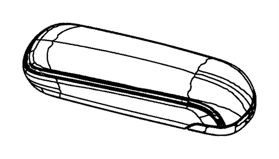 2011 Chrysler 200 Console Armrest. Black, Sedan, FCA