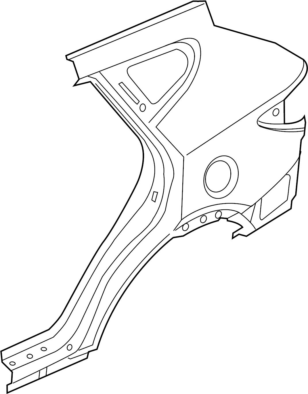 Hyundai Santa Fe Panel. Quarter. Quarter panel piece