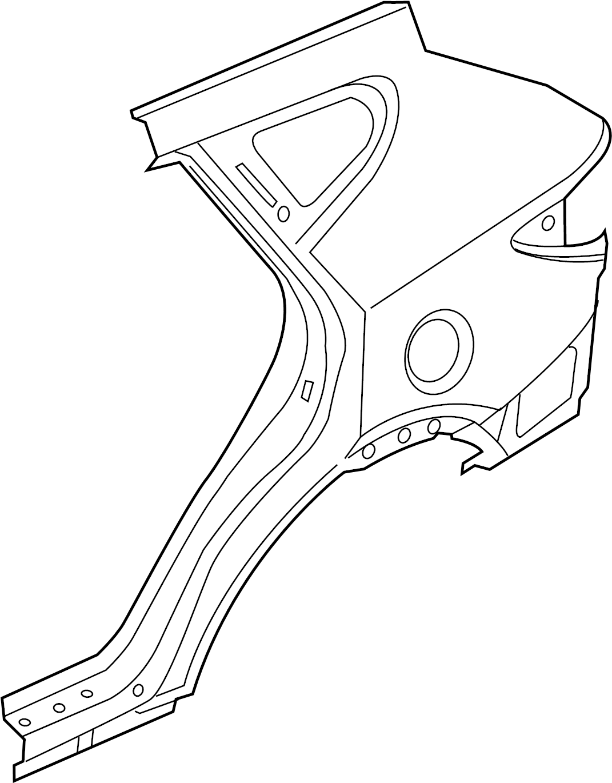 Hyundai Santa Fe Quarter Panel (Right). W/SPORT. Rear