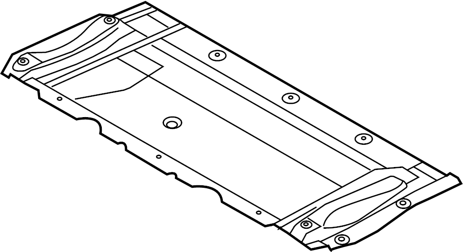 2014 Audi A6 Front deflector. Front shield. PAN. Radiator