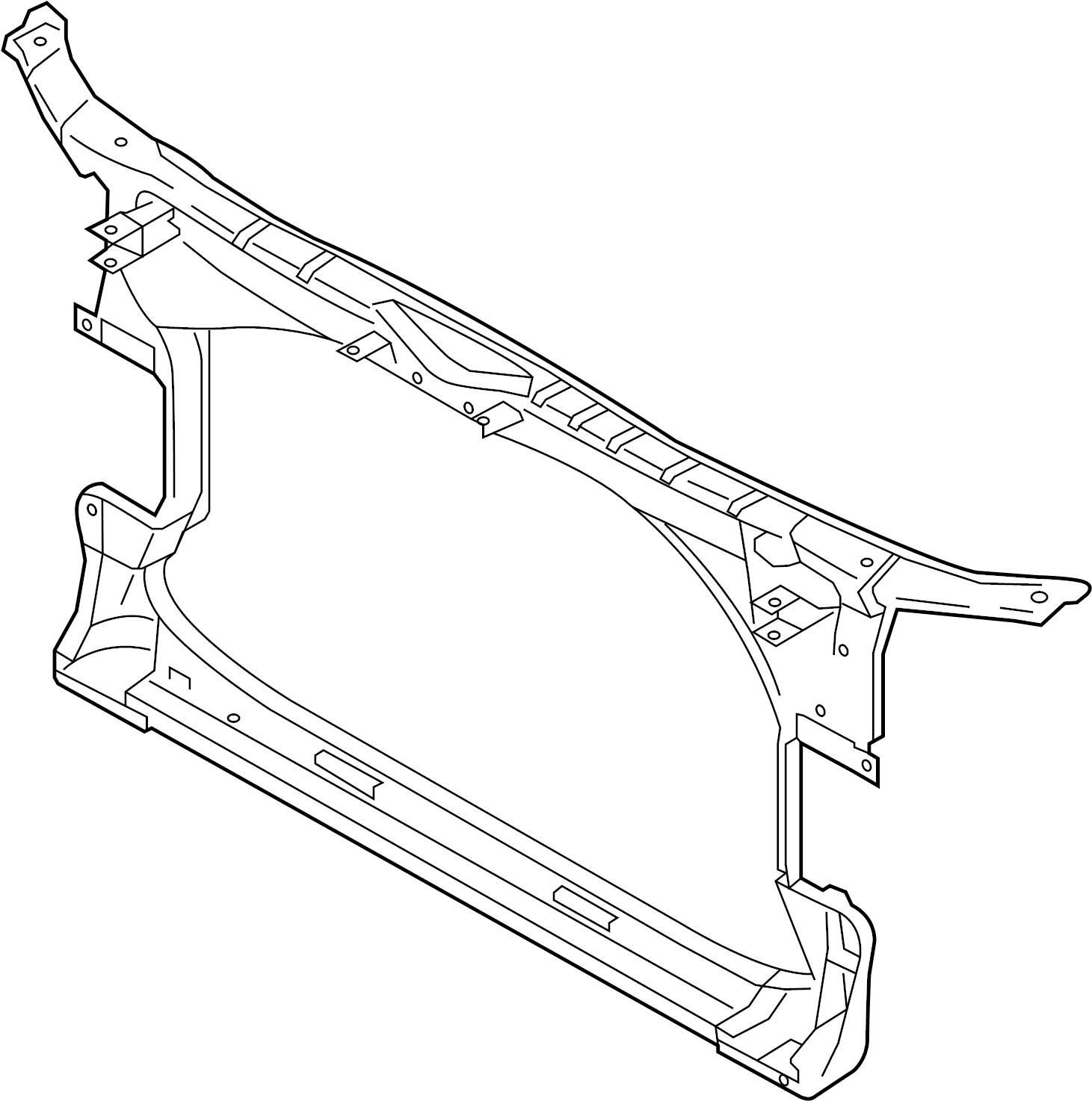 Audi S7 Support Panel Carrier Center Closure Frame