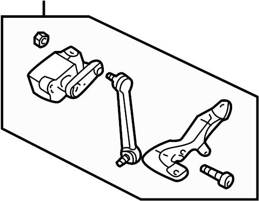 2004 Audi Suspension Ride Height Sensor (Front). Right