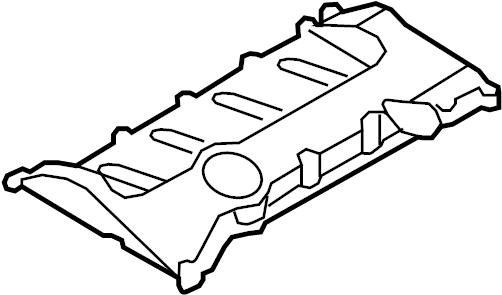 Volkswagen GTI Engine Valve Cover. LITER, VIN, GAS