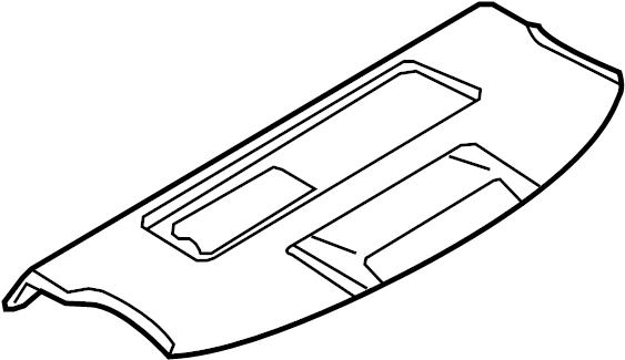 Audi RS4 Package tray. TRIM PANEL. SEDAN, w/rear window