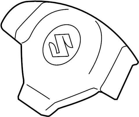 Suzuki SX4 Steering Wheel Air Bag. Switch, Radio, Inflator