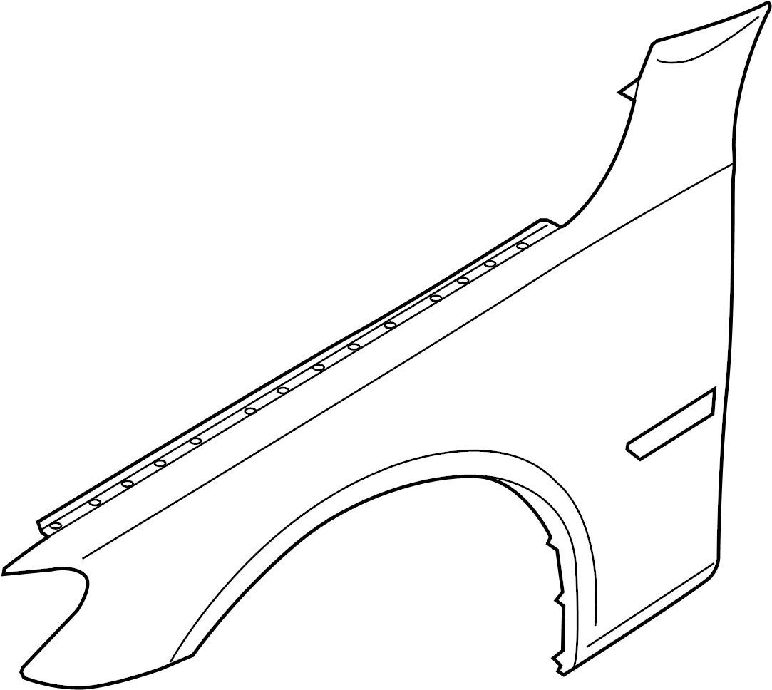 2015 BMW 740Li Fender (Right, Front). Apron, Panel