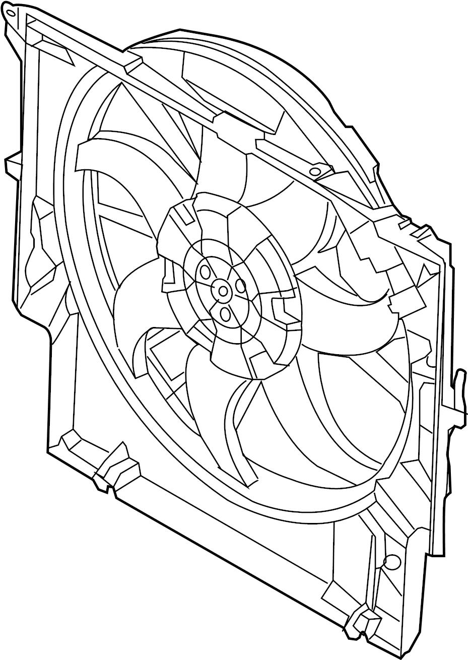 BMW 335i Fan AND motor. Fan ASSEMBLY. Fan blade. Fan